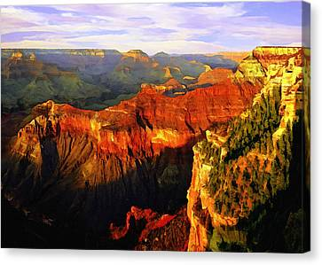 View - Yavapai Point Canvas Print by Bob and Nadine Johnston