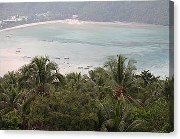 Viewpoint - Phi Phi Island - 01139 Canvas Print by DC Photographer