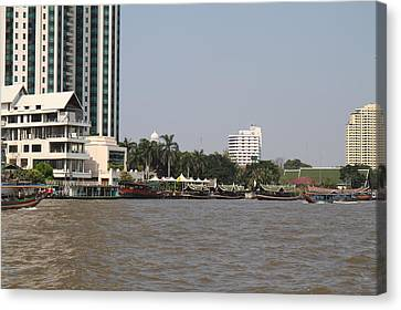 Views From A River Boat Taxi In Bangkok Thailand - 01135 Canvas Print by DC Photographer