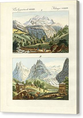 Views Of Switzerland Canvas Print by Splendid Art Prints