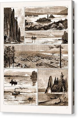 Views On The Northern Pacific Railway, U.s.a., U.s., Us Canvas Print