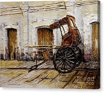 Vigan Carriage 1 Canvas Print by Joey Agbayani