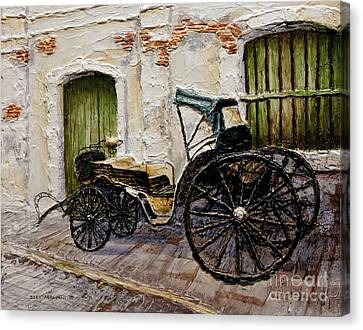 Canvas Print featuring the painting Vigan Carriage 2 by Joey Agbayani