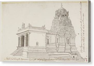 Vighnesvara Temple In Tanjore Canvas Print