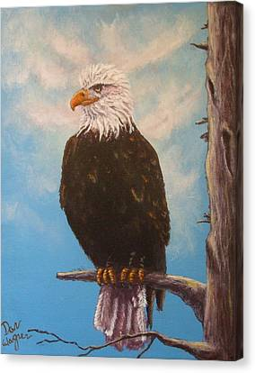 Vigilant Eagle Canvas Print by Dan Wagner