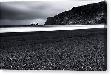Vik And The Black Sand Canvas Print