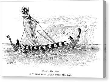 Viking Ship, C1000 Canvas Print by Granger