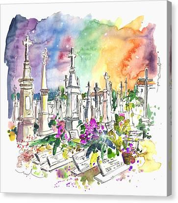 Vila Do Conde Cemetery Canvas Print by Miki De Goodaboom
