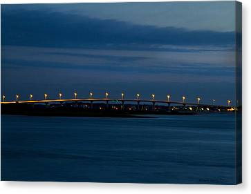 Canvas Print featuring the photograph Vilano Bridge by Kathy Ponce