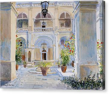 Maltese Canvas Print - Vilhena Palace by Lucy Willis