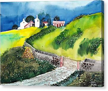 Villa Canvas Print by Anil Nene