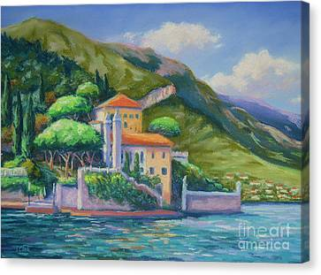 Villa Balbianello Lake Como Canvas Print by John Clark