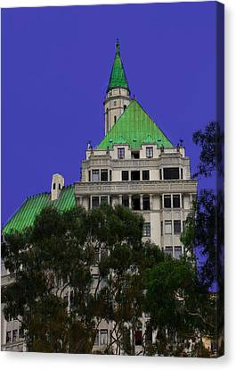 Canvas Print featuring the photograph Villa Building by Joseph Hollingsworth
