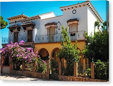 Spanish House Canvas Print - Villa In Ronda. Spain by Jenny Rainbow