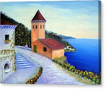 Tuscany Canvas Print - Villa Of Dreams by Larry Cirigliano