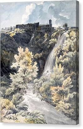 Villa Canvas Print - Villa Of Maecenas, Tivoli by J.W. Smith
