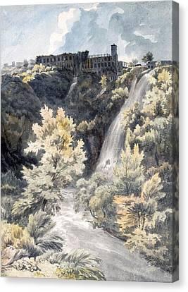 Villa Canvas Print - Villa Of Maecenas, Tivoli by J.W. Smith