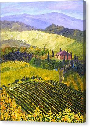 Villa Toscana Canvas Print by Diane Arlitt