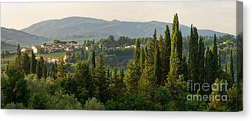 Village And Cypresses Canvas Print by Francesco Emanuele Carucci