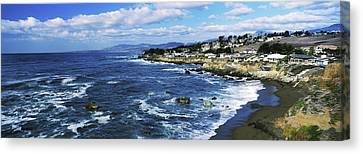 Cambria Canvas Print - Village At The Waterfront, Cambria, San by Panoramic Images