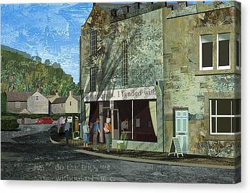 Village Cafe Canvas Print by Kenneth North