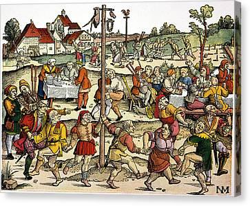 Village Celebration, C1530 Canvas Print by Granger