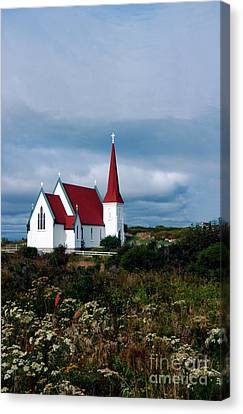 Village Church Canvas Print by Kathleen Struckle