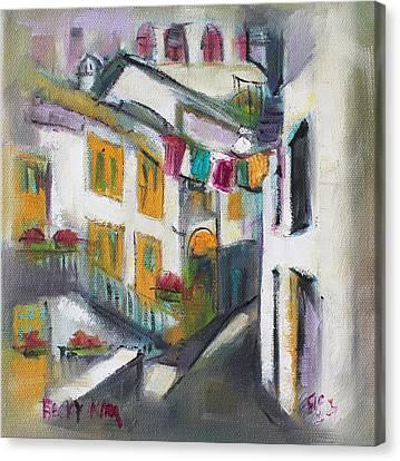 Village Corner Canvas Print by Becky Kim