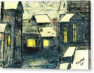 Village Canvas Print by Dan Twyman