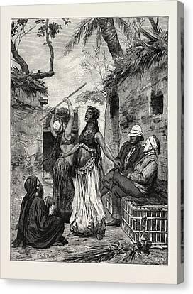 Village Dancers. Egypt Canvas Print by Litz Collection