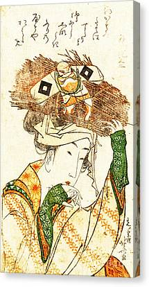 Village Girl From Ohara 1799 Canvas Print by Padre Art