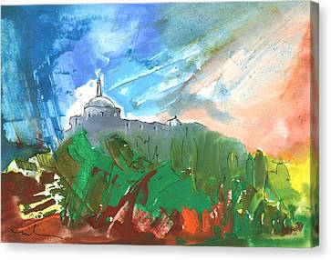 Village In Cathar Country Canvas Print by Miki De Goodaboom