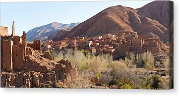 Village In The Dades Valley, Dades Canvas Print