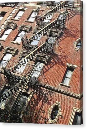 Village Ladders Canvas Print by Steven Lapkin