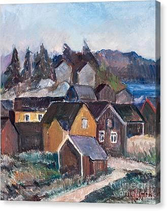 Village Landscape Canvas Print by Celestial Images