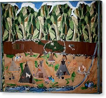Village Life Canvas Print by Linda Egland