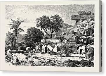 Village Near Assouan,  Egypt Canvas Print by Litz Collection
