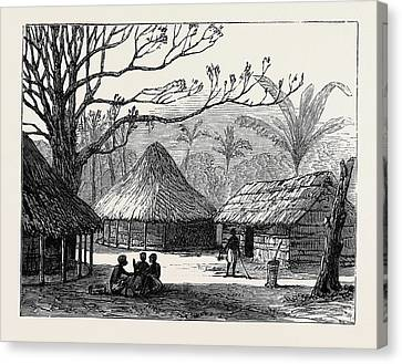 Village Of Beho Beho East Central Africa Where Mr Canvas Print by English School