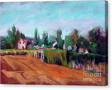 Village Of Fontain Forche Canvas Print by Virginia Dauth