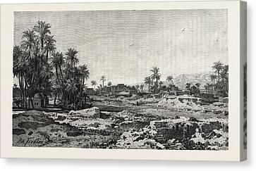 Village Of Karnak Canvas Print by Litz Collection