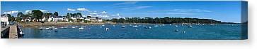 Village Of Larmor-baden, Gulf Of Canvas Print by Panoramic Images