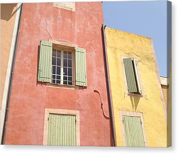Village Of Roussillon France Canvas Print by Pema Hou