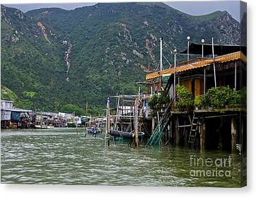 Canvas Print featuring the photograph Village On The Water by Sarah Mullin
