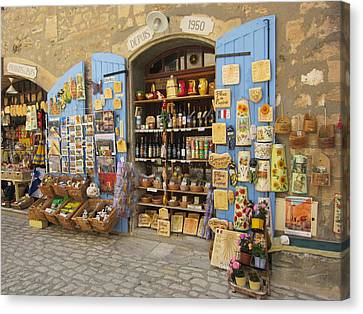 Canvas Print featuring the photograph Village Shop Display by Pema Hou