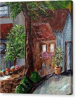 Village Shoppes Canvas Print by Eloise Schneider