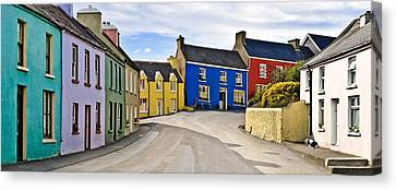 Village Street Canvas Print by Jane McIlroy