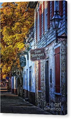 Village Streets Canvas Print by Mary Lou Chmura