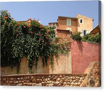 Village Vista Roussillon France Canvas Print by Pema Hou