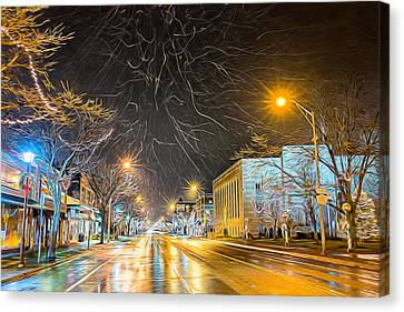 Village Winter Dream Canvas Print by Chris Bordeleau
