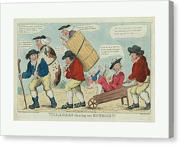 Villagers Clearing Out Rubbish Engravd By Hixon Canvas Print